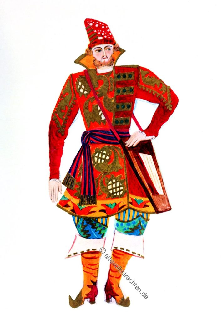 Sadko, Russia, Ballet, costume, Russian, Folk, Tale, Goncharova