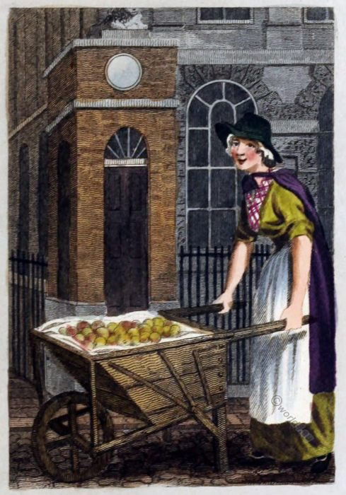 Baking, Stratford Place, London, Traders, costume, 18th century