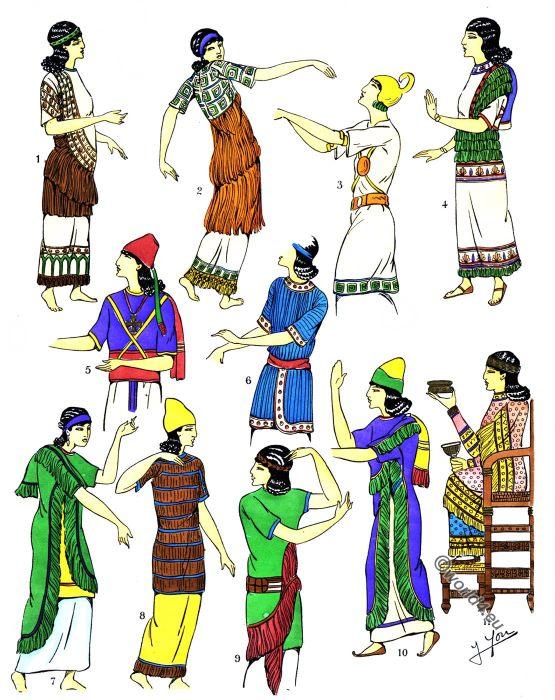 Assyria, Blouses, Ensembles, fashion history, costumes, history