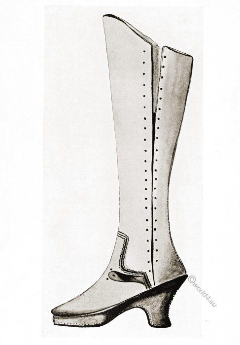historic, shoes, Tudor, buskin, fashion, England, 16th century,