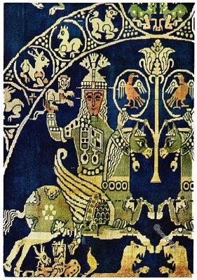 Sassanian, Antique, Fabrics, Silk, Pattern, Sassanid, Persia, Egypt,