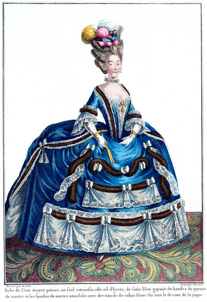 Countess, Provence, Galerie des Modes, rococo, fashion, costume, baroque,