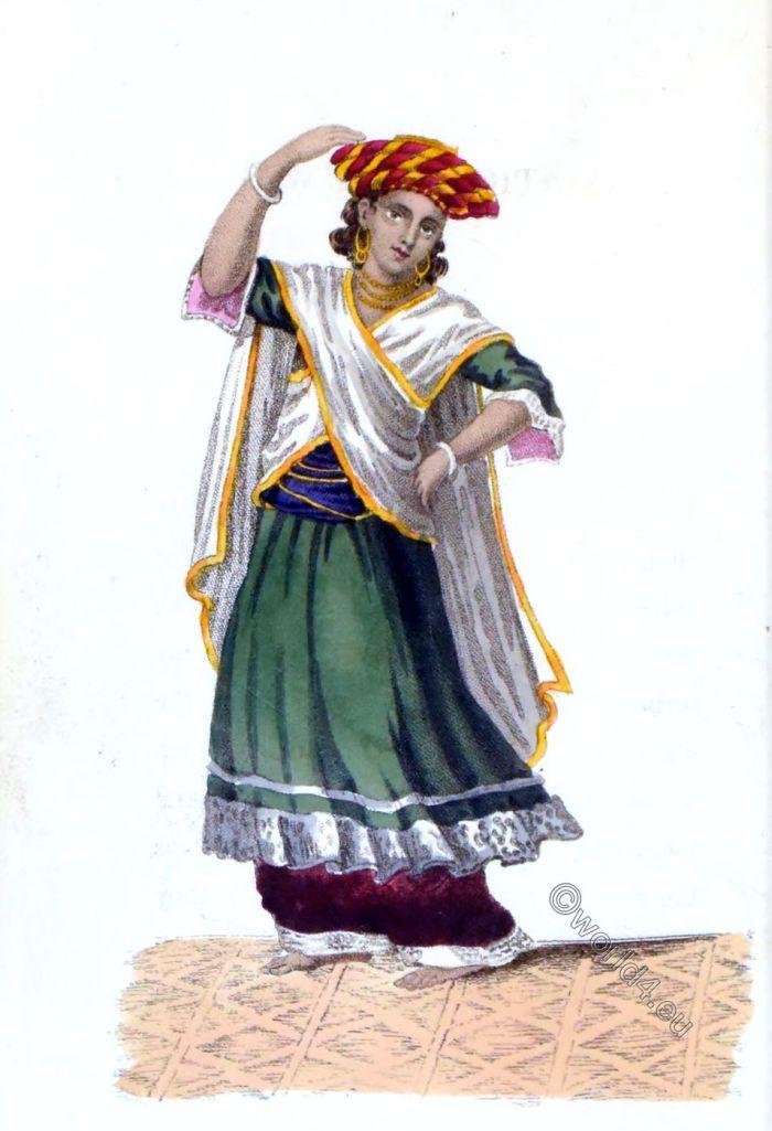 Rudolph Ackermann, Asiatic, costumes, B,hugtee,a, Dancing Boy, India,