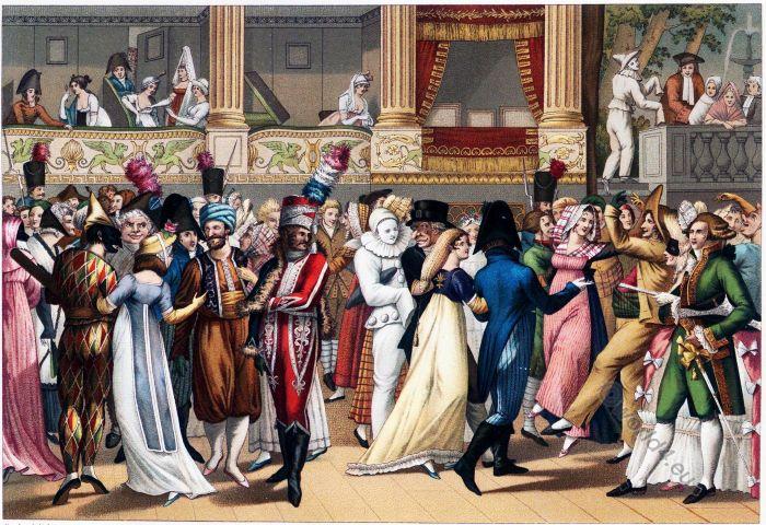 Masked bal, Paris Opera, Empire, Costumes, Fashion