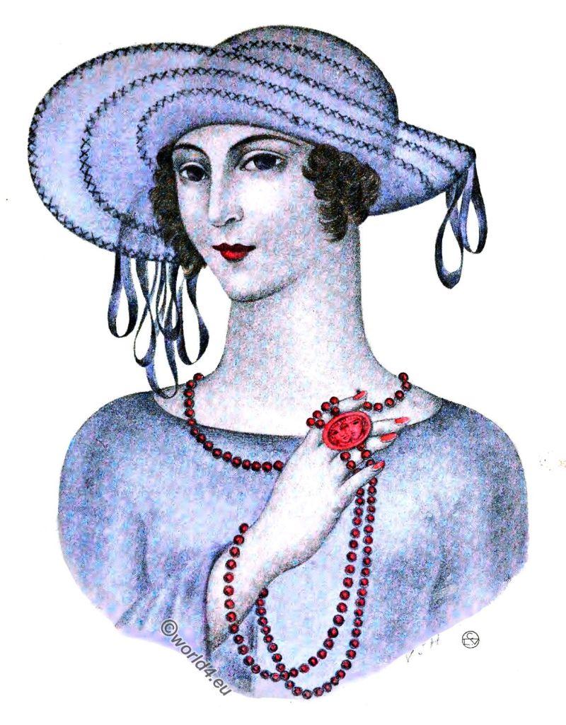 Camille Roger, Hat, Art-deco, fashion, Gazette du bon ton