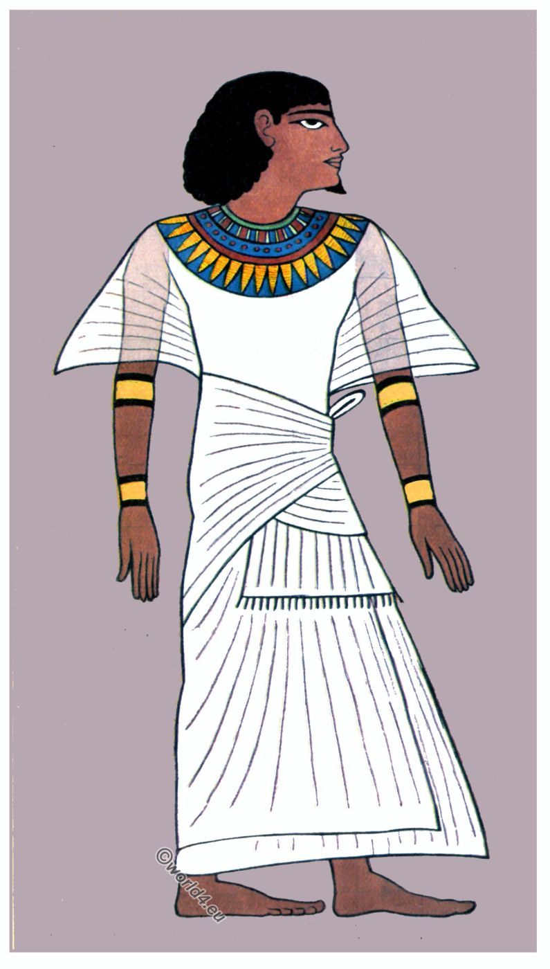 Ancient, fashion, history, Egyptian, Scribe, Robe