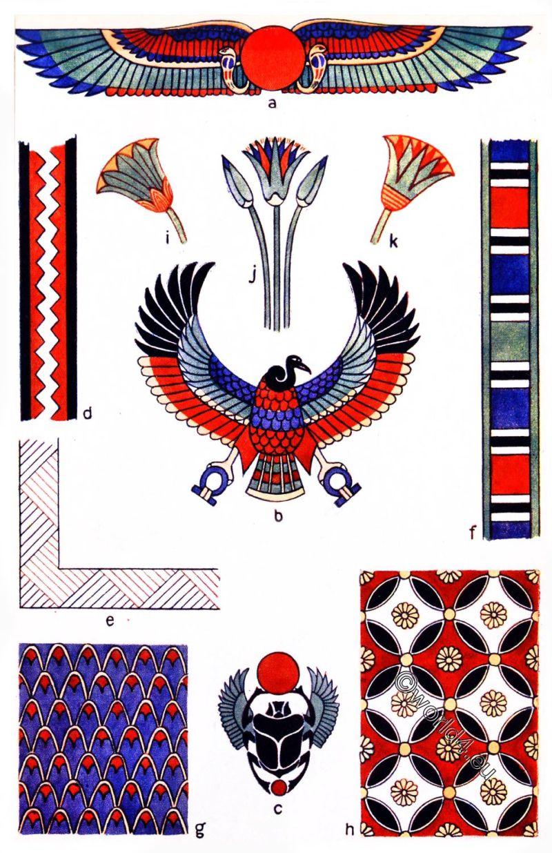 Ancient, Egyptian, Decoration, ornamets, egypt
