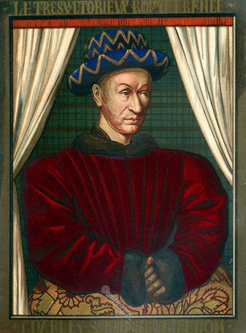 Charles VII, king, france, middle ages, medieval, costume