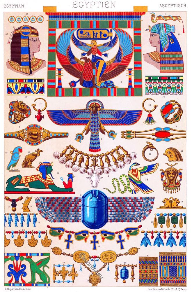 Egyptian,Jewlery, Bracelets, cloisonné enamel, Ear-rings, necklaces, amulets, bracelets, rings