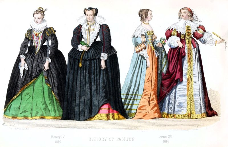 Henry IV, Louis XIII, france, fashion, history, costume, renaissance, baroque, court dresses,
