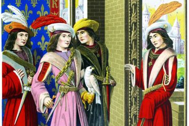 Middle ages, costume history, Charles VIII, Great Dignitaries, 15th century
