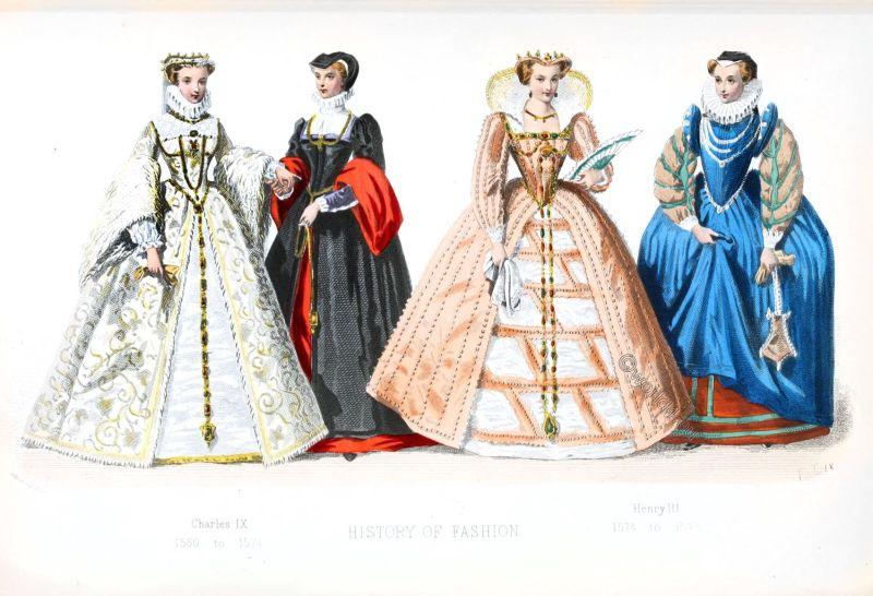 Fahion history, Renaissance, Spanish court dress, 16th century