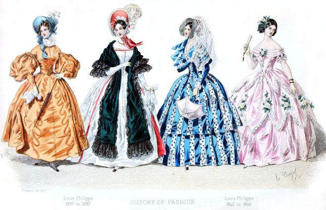 Victorian, Romantic, fashion, era, Crinoline, costumes