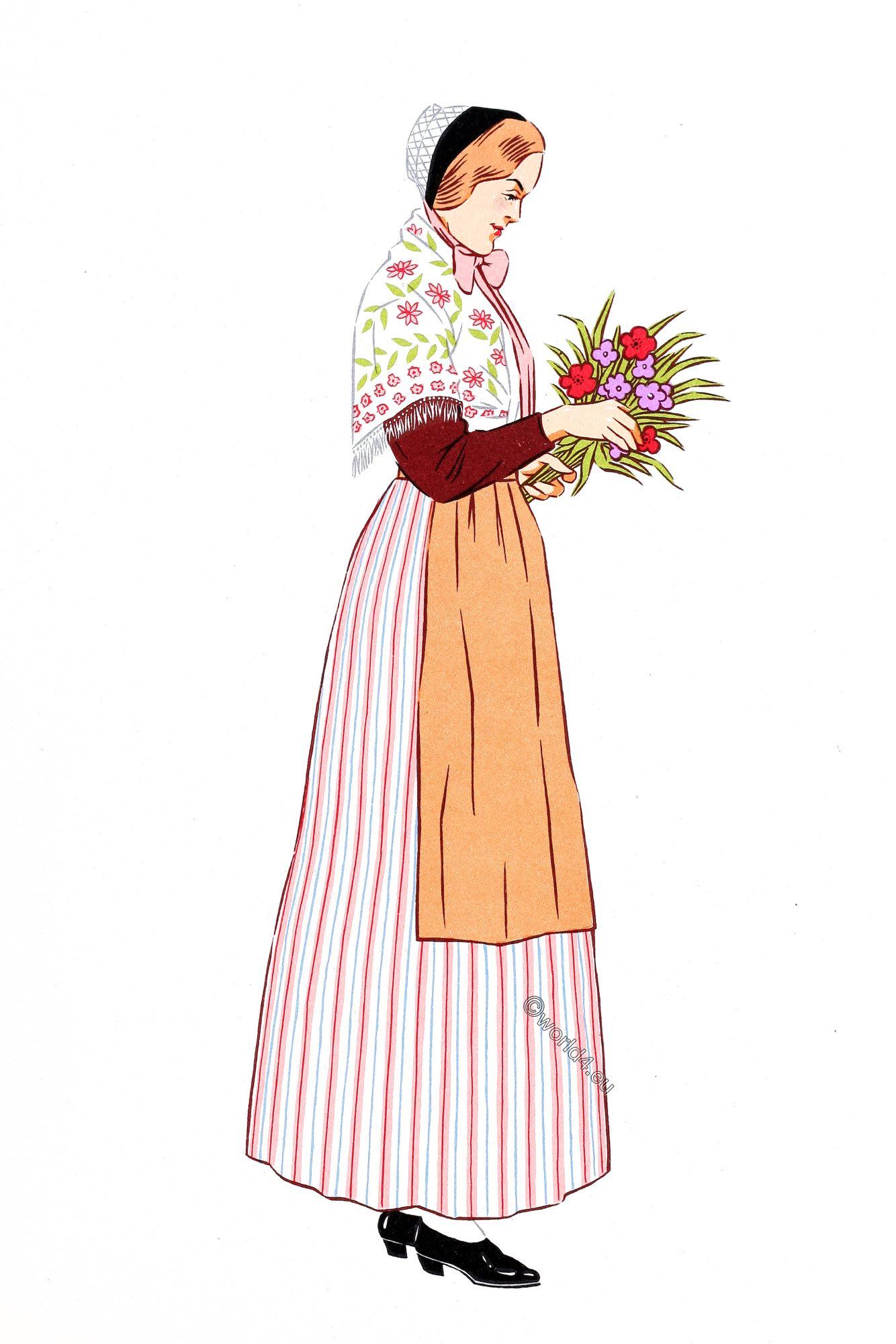 French National Costumes Les Costumes Regionaux De La France