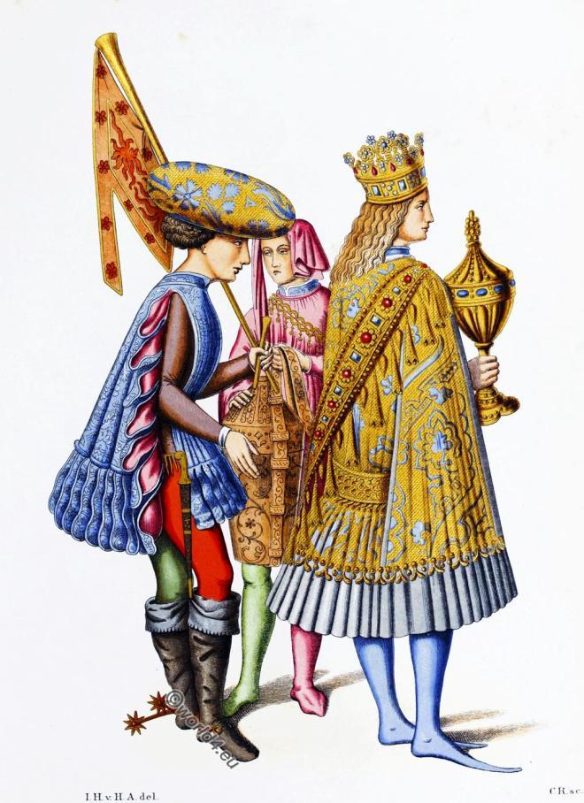 Italian, princes, fashion, costumes, middle ages, fashion