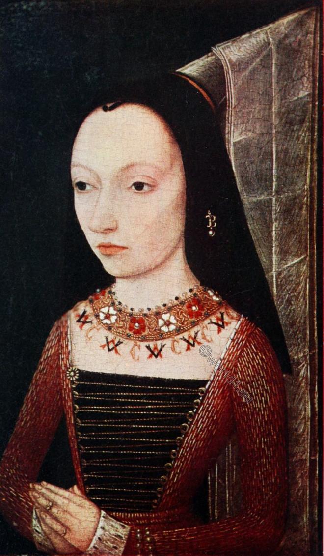 Margaret of York, Burgundy, Middle ages, portrait, hennin, Fashion