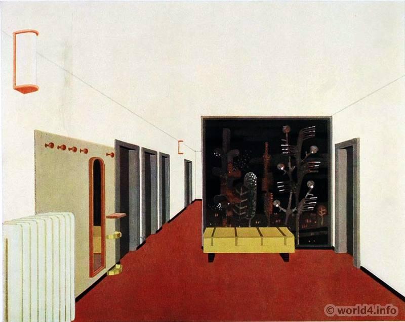 Art Deco Interior Design, Color and Furniture, 1930s.