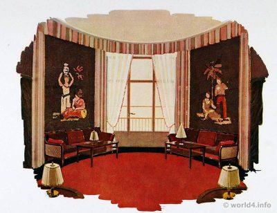Art deco interior design color and furniture 1930s lost and found for Art deco paint colors interior