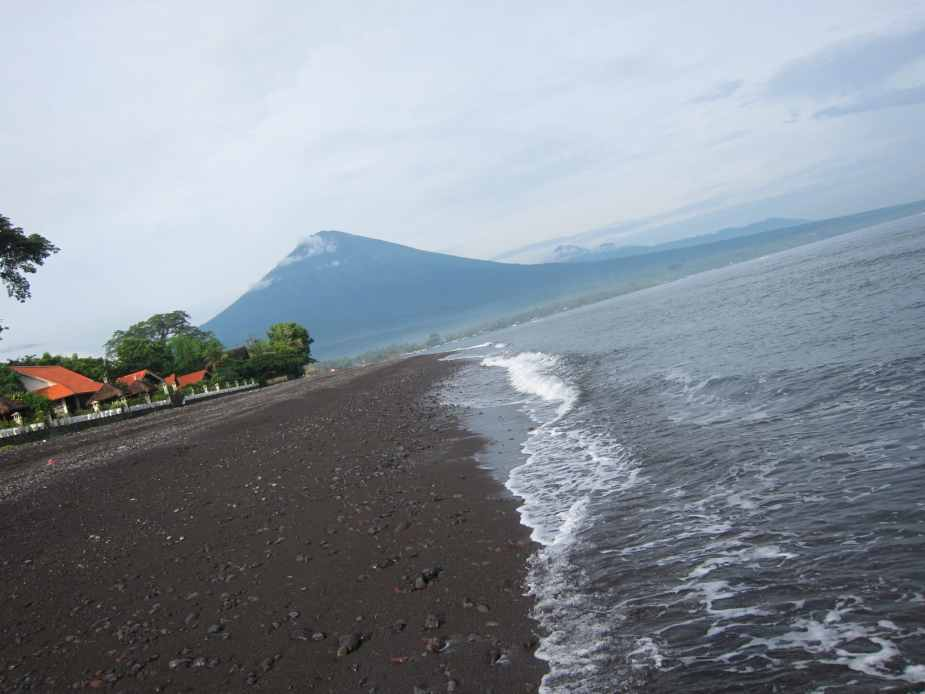 View of Mount Agung from Amed Beach - Bali