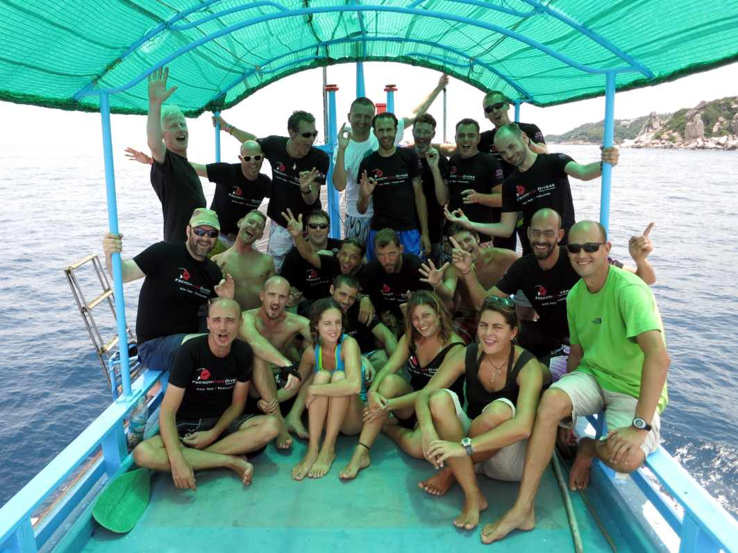 French Kiss DIvers trip to Sail Rock Koh Tao