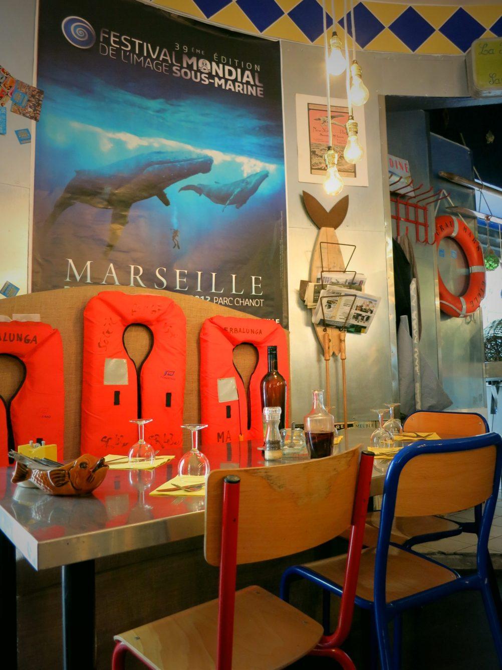 fish restaurant Marseille la boite à sardine