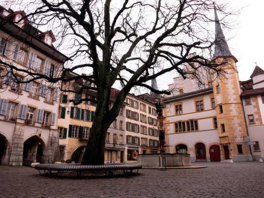 Biel old town