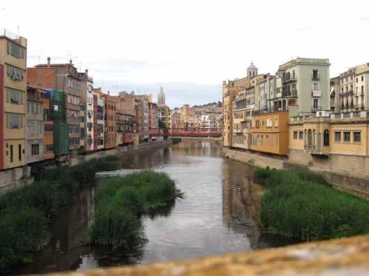 Onyar river banks Girona
