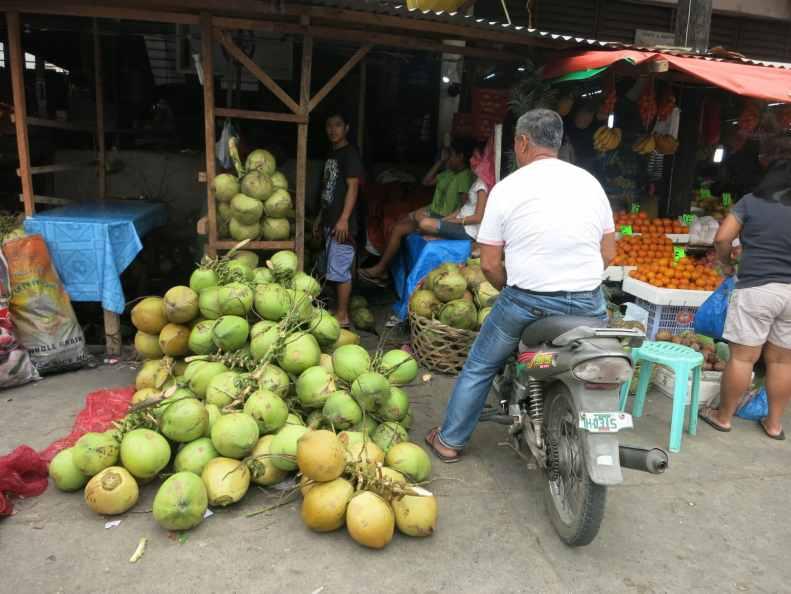 Dumaguete fruit market Negros Philippines