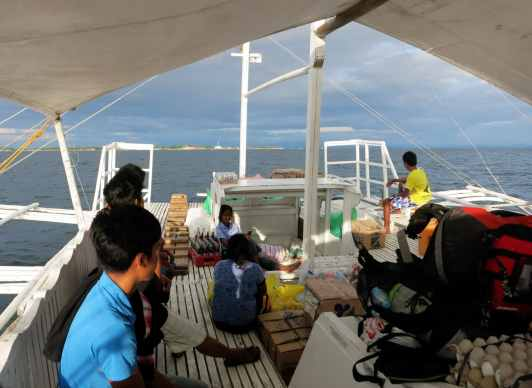 Banca boat from Maya pier to Malapascua Philippines