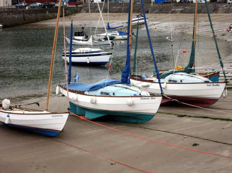Stonehaven port boats Scotland