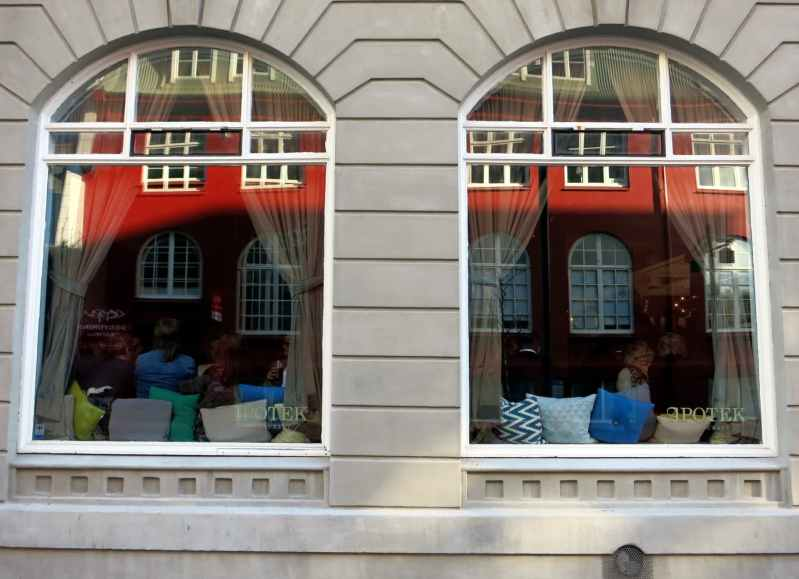 Cafes windows Reykjavik Iceland