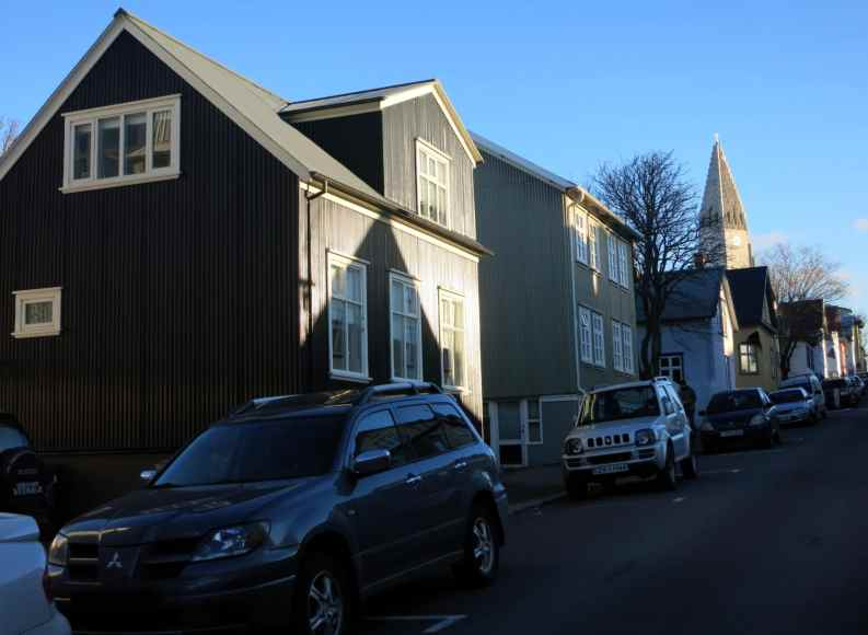 Reykjavik streets Iceland