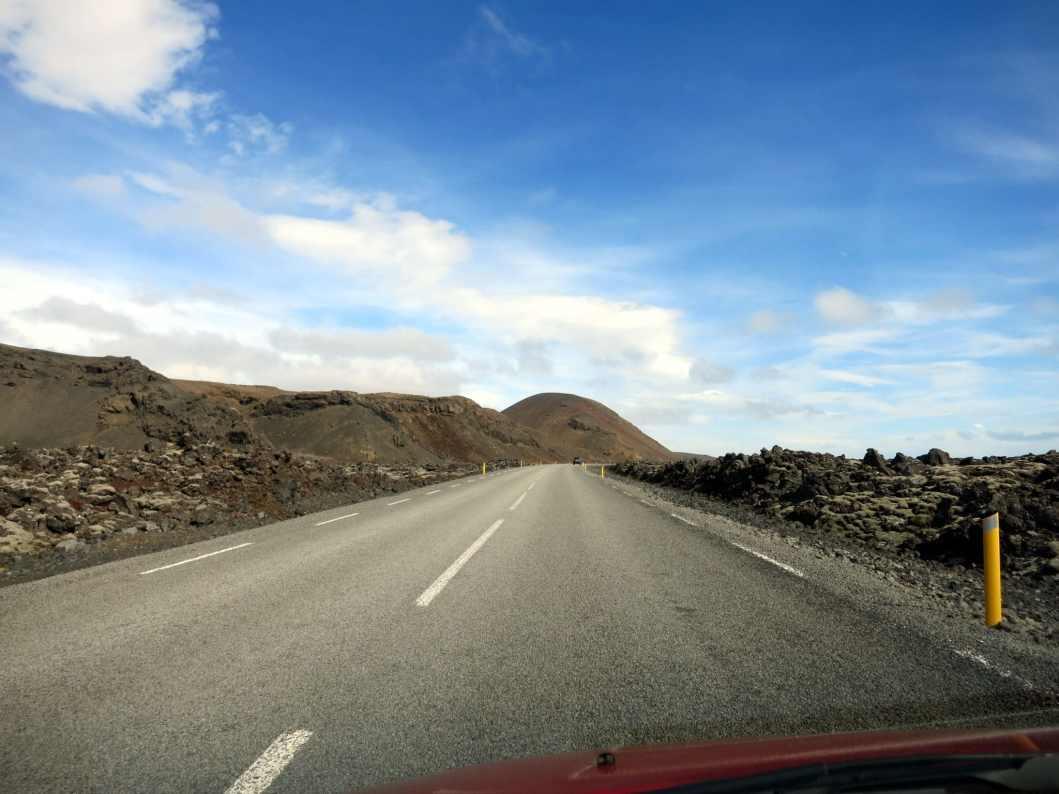 Lava fields Road 42 Reykjanes Peninsula Iceland