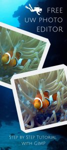 How to edit underwater photo