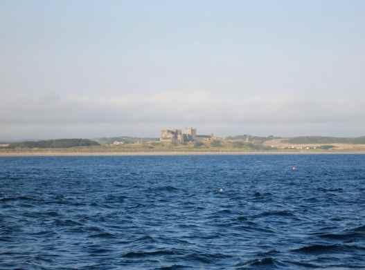 View of Bamburgh Castle scuba diving Farne Islands England UK