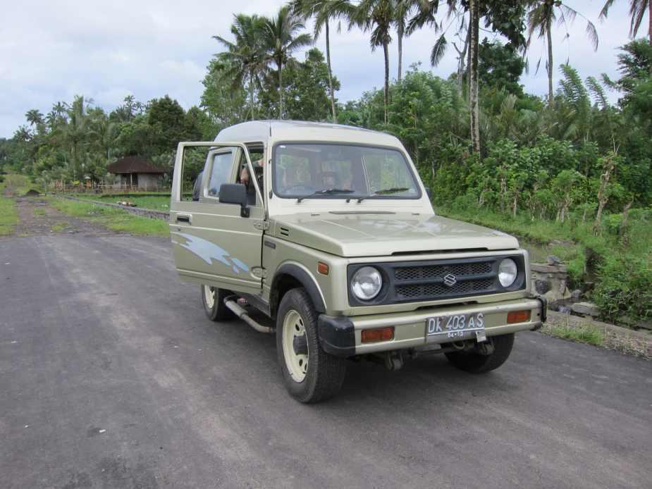 Driving around Bali