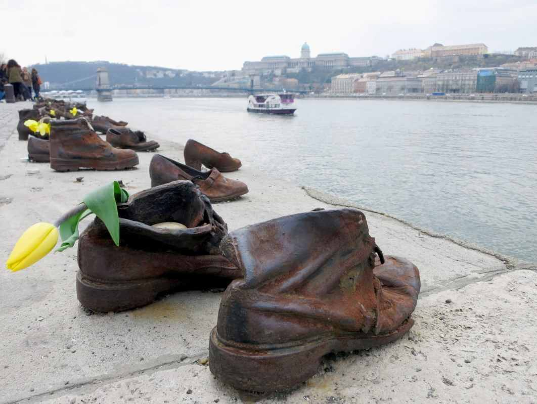 Shoes on the Danube Memorial Budapest Hungary