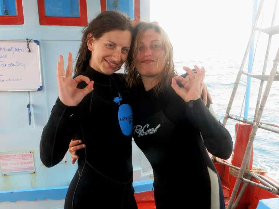 Dive buddies OK in Koh Tao, Thailand
