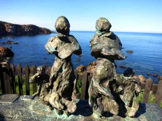 View St. Abbs Head Statues Scotland