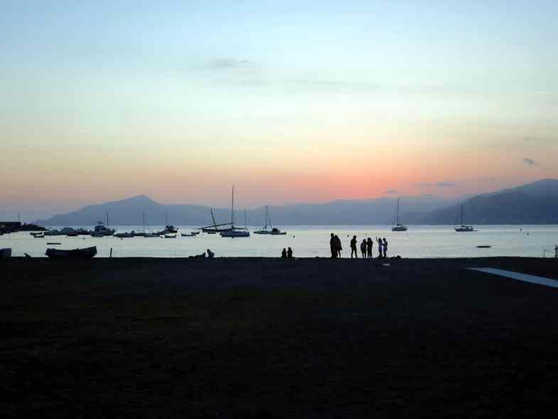 Sunset Sestri-Levante Liguria Italy