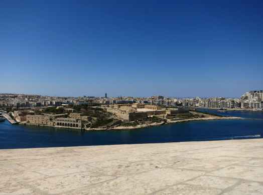 View from Hastings gardens Valetta Malta