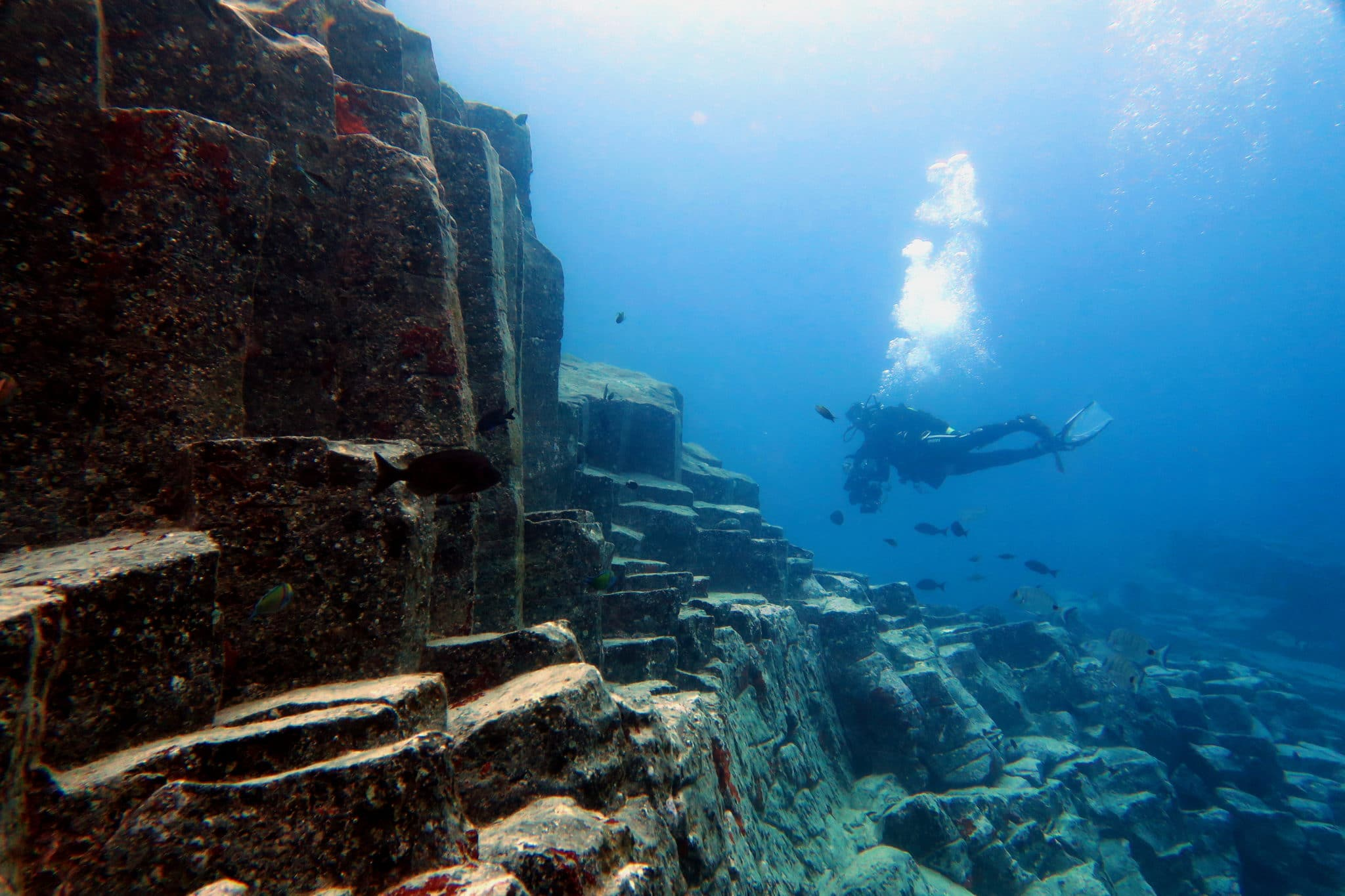 Basalt Columns Scuba diving Tenerife Canary Islands