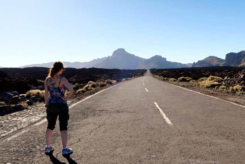 Lava fields Teide National Park Tenerife Canary Islands