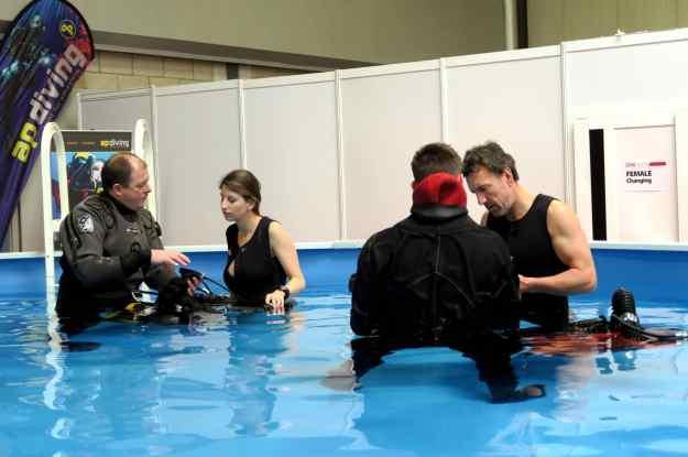 Rebreather dive show Birmingham UK