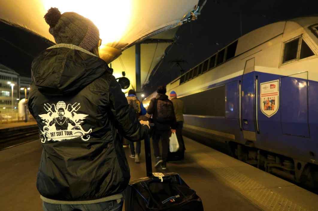 TGV Night train Paris to the French Alps