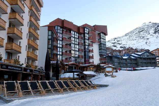 Val thorens ski resort French Alps