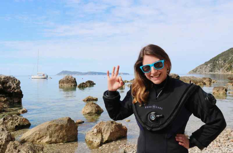 Florine World Adventure divers Fusion drysuit diver in Croatia