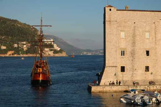 Port of Dubrovnik sailboat Croatia