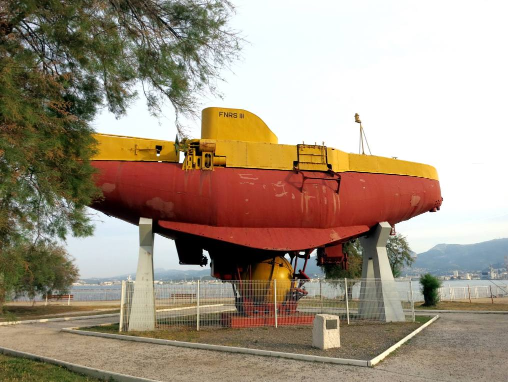 FNRS III Bathyscaphe Submarine Toulon France