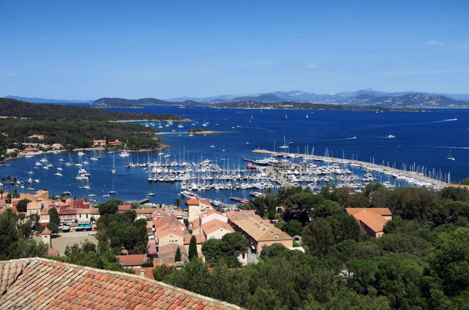 Port of Porquerolles Island French Riviera